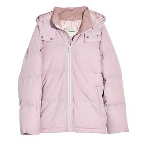 BNWT Madewell Quilted Puffer Parker in Lilac